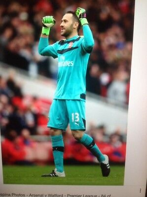 ARSENAL PLAYER ISSUE GOALKEEPER SHORTS WORN BY DAVID OSPINA No 13 Size LARGE