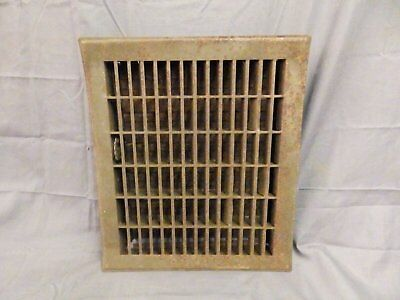 Vintage Stamped Steel Floor Heat Grate Register Vent Old 12x14 566-17P