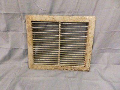 Vintage Stamped Steel Floor Heat Grate Ceiling Vent Old Hardware 12x14 567-17P