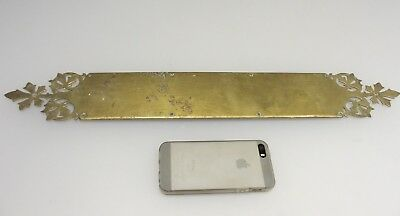 Antique Brass Door Handle Finger Push Plate Vintage Victorian Gothic Old  21""
