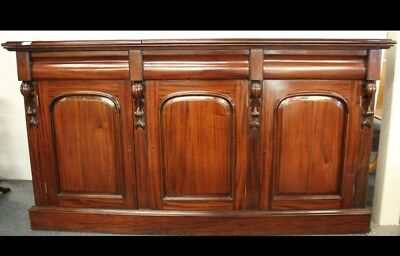 High quality Victorian style solid mahogany side board cabinet, Chiffonier.