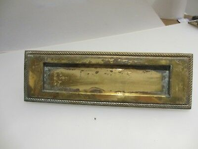 Vintage Brass Letterbox Letter Box Post Slot Letters Retro Old Reclaim Rope Trim