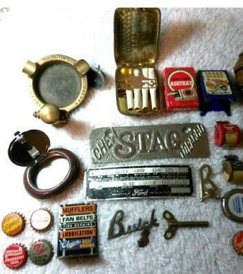 MIXED LOT of Vintage AUTO and SOFT DRINK MEMORABILIA Plus OTHERS -ASHTRAYS, ETC.