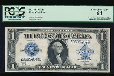 AC Fr 238 1923 $1 Silver Certificate  PCGS 64 UNCIRCULATED