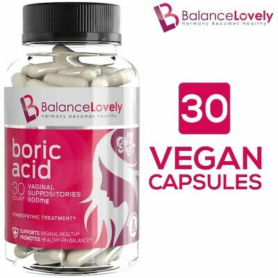 Boric Acid Suppositories - Get Fast Relief from BV, Yeast Infection - 600mg