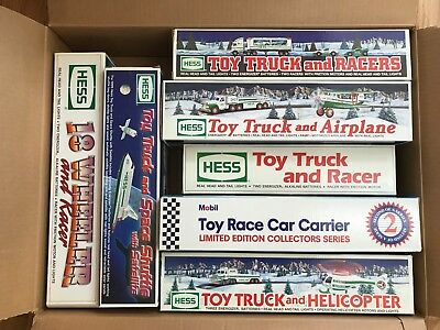 MINT NIB Hess Toy Truck & Racer 91, Airplane 02, Helicopter 95, Space Shuttle 99