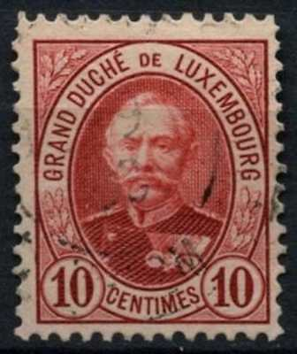 Luxembourg 1891-3 SG#125a 10c Carmine P12.5 Used #D63764