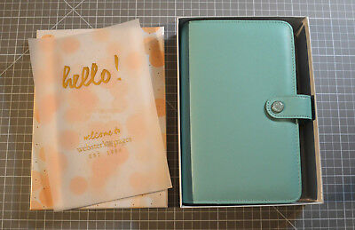 """★Webster's Pages """"Color Crush"""" ★ Personal Planner Kit Teal/Mint"""