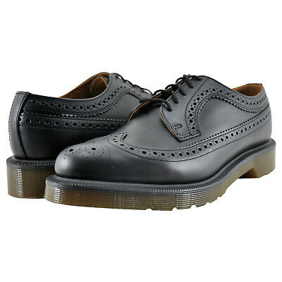 Men's Shoes Dr. Martens 3989 Wingtip Brogue Oxfords 13844001 Black Smooth *New*