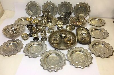 Vintage Joblot Vintage Eastern Gods Pots Offering Dispay Pieces Tray Collection