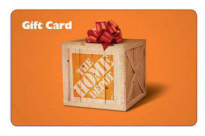 NEW $500 Home Depot Gift Card-NO Fees-FREE First Class Shipping