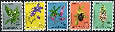 Luxembourg 1977 SG#997-1001 Protected Plants MNH Set #D63791