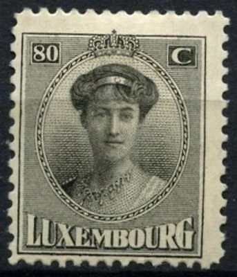 Luxembourg 1921-34 SG#205, 80c Black MH #D63804