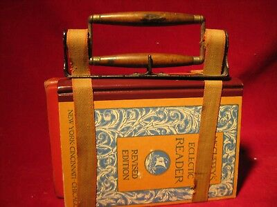 "Adjustable 1880 Book Carrier & Books ""Little House on the Prairie"" School"