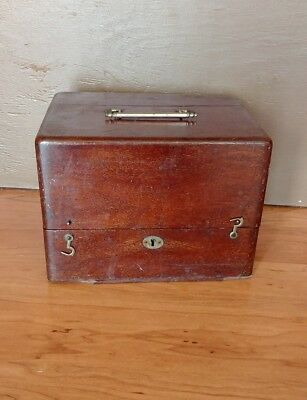 Antique 1884 Whitall, Tatum & Co Wooden Medical Case Apothecary Box # 394