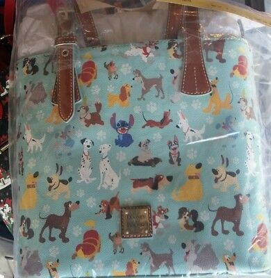 BNWT NEW 2017 Disney Parks Exclusive Dooney and & Bourke dogs tote dog bag purse