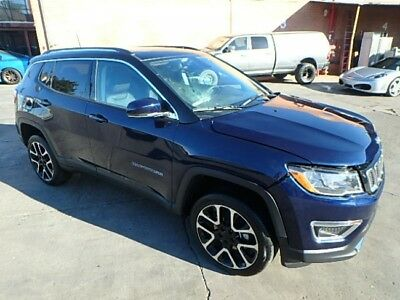 2017 Jeep Compass Limited Damaged Wrecked Repairable 2017 Jeep Compass Limited 4WD w/ Only 2K Miles! Priced To Sell! Wont Last! L@@K!