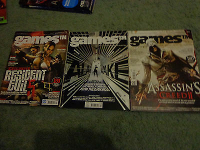 games magazine 83, 75, 93 - Alan wake, resident evil, Assassin's Creed