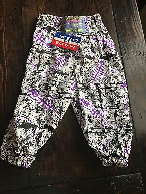 RARE NWT Vtg Pants for BABY Piranha Bay Sz 18 Mnths 80's Print MC Hammer