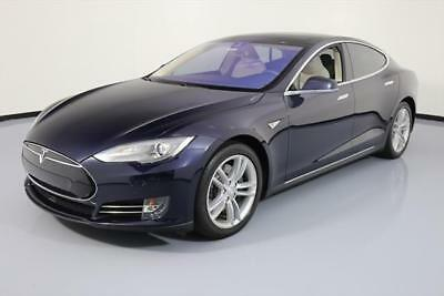 2014 Tesla Model S  2014 TESLA MODEL S 85 TECH AUTOPILOT PANO ROOF NAV 41K #P61507 Texas Direct Auto