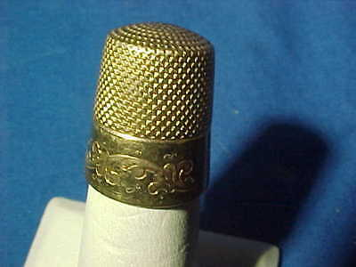 19thc VICTORIAN Era 14K GOLD SEWING THIMBLE by Ketcham + McDougall