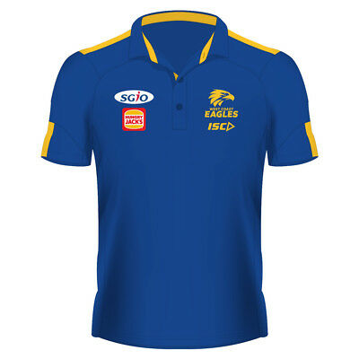 West Coast Eagles AFL 2018 ISC Players Royal Polo Shirt Size S-5XL! In Stock!