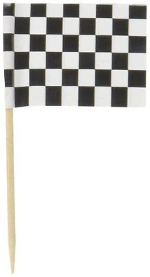 Beistle 60104 50-Pack Checkered Flag Food Picks, 21/2-Inch, Free Shipping