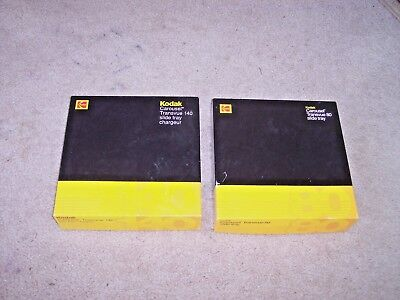 Lot of 2 Carousel 80 and 140 Slide Trays For Kodak Projectors in Box