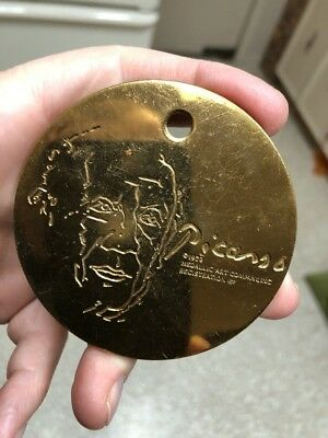 Unusual 1973 Metallic Arts Co Picasso Uniface Medal