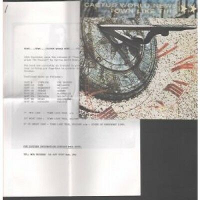"""CACTUS WORLD NEWS Town Like This 7"""" VINYL UK Mca With 5 Page A4 Press Release"""