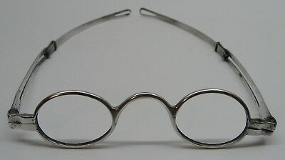Fine Pair of Coin Silver Spectacles by John McAllister, Jr. of Philadelphia, NR