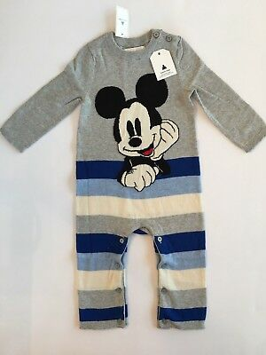 Gap Baby Mickey Mouse One Piece Sweater Crazy Stripe 6 12 18 24 NWT