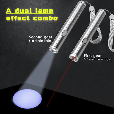 Interactive LED Training Funny Cat Play Toy Laser Pointer 2 In 1 Exercise Kitten
