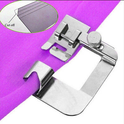 "13mm Ruffler Wide ROLLED HEM SET 1/2"" Sewing Machine Hemmer Foot Stainless Steel"
