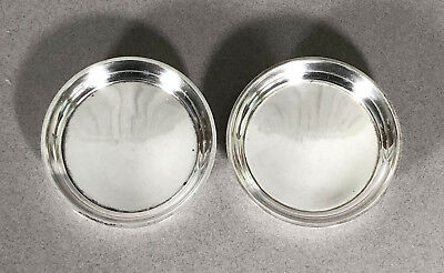 Pair Tiffany & Co. Sterling Silver Round Dish Set Dishes