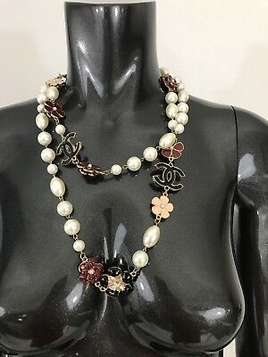 New without tags necklace floral long faux pearls white fashion jewelry
