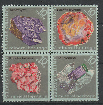 USA Minerals Heritage - MNH Set of 4