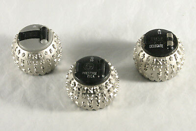 Lot of 3 IBM Selectric Typewriter Ball Heads Prestige Pica / Delegate / Unnamed