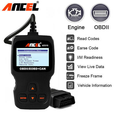 Automotive Car OBD2 EOBD Fault Code Reader Engine Scanners Scan Diagnostic Tools