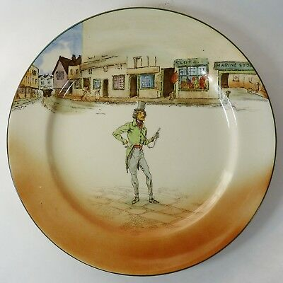 """Royal Doulton Dickens Ware Alfred Jingle Pattern 10-1/4"""" Plate Collectible"""