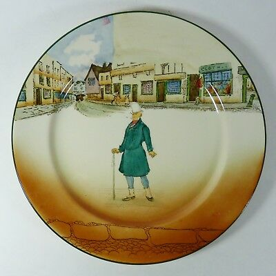 """Royal Doulton Dickens Ware Mr. Micawber Pattern 10-1/4"""" Plate Collectible"""