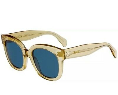 4b45886cbf0 Celine CL 41805 S XKG 9A AUDREY Champagne light beige Blue Lens Women  Sunglasses