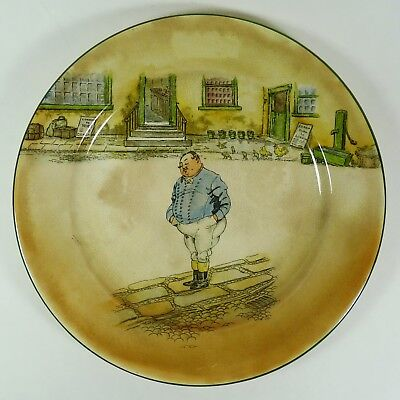 """Royal Doulton Dickens Ware The Fat Boy Pattern 10-1/4"""" Plate Collectible"""