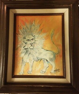 Degrazia Lion Signed Painting