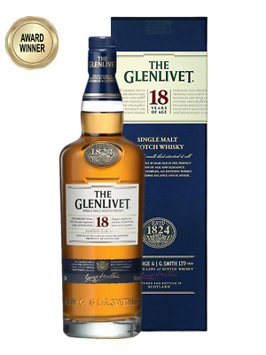 Glenlivet 18YO Single Malt Scotch Whisky 700ml (Boxed)