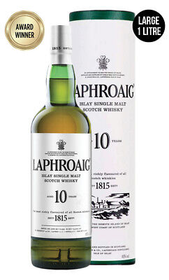 Laphroaig 10YO Single Malt Scotch Whisky 1 Litre(Boxed)
