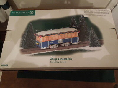 Dept. 56 City Trolley Set with tracks.