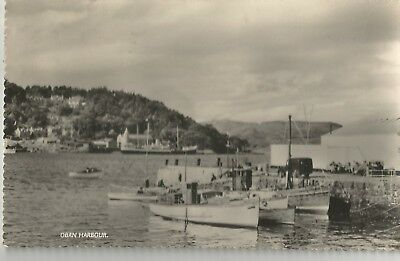 Oban Harbour Argyll Bute Scotland Boats  Old Photo Postcard  1957