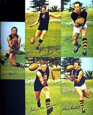 WAFL CARDS MOBIL 1965 SIGNED : 5 PLAYERS from CLAREMONT  NO RESERVE!!!