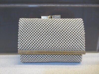 Classic vintage Glomesh pale cream metal coin purse/wallet combination